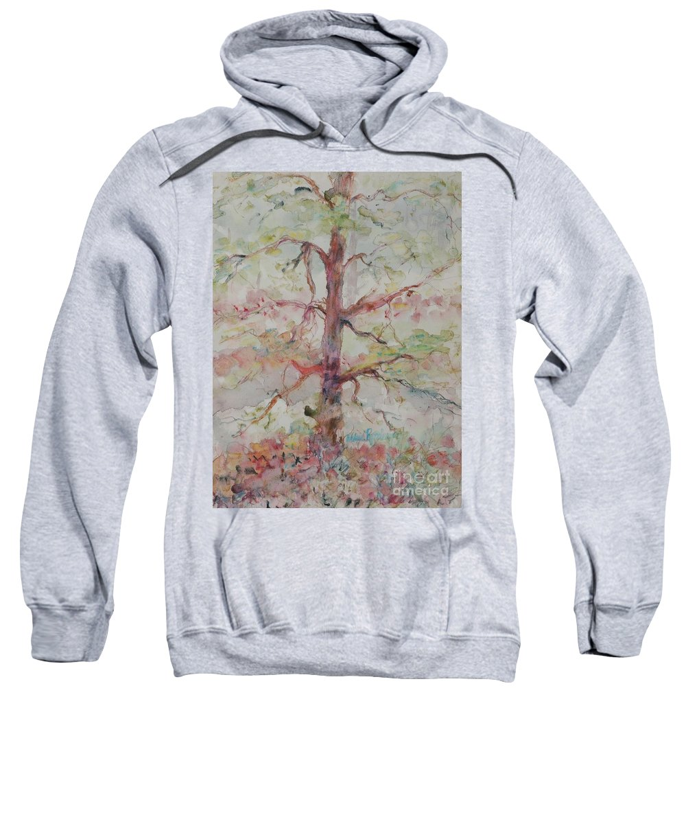 Forest Sweatshirt featuring the painting Pastel Forest by Nadine Rippelmeyer