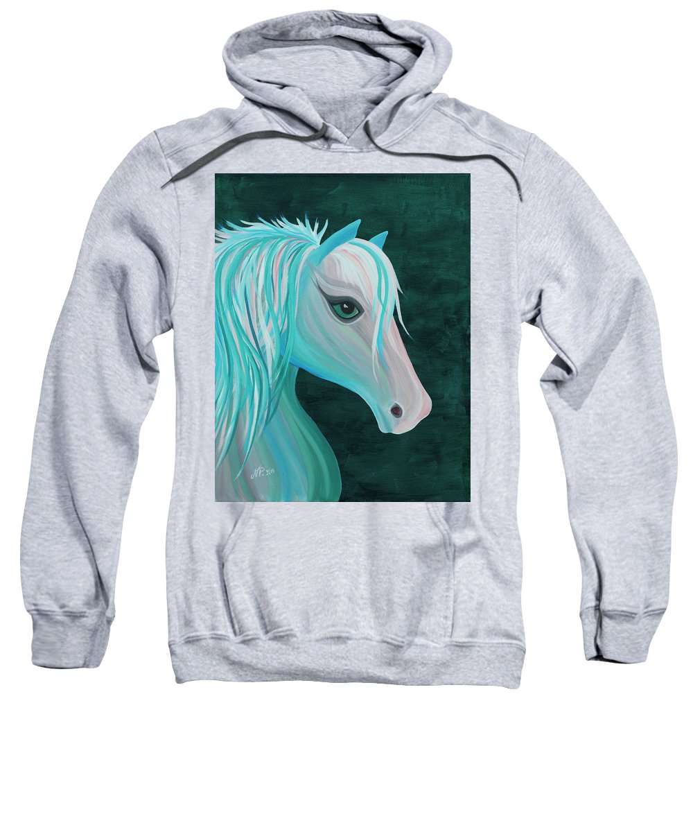 Horse Sweatshirt featuring the painting Pastel Horse by Nicole Paquette