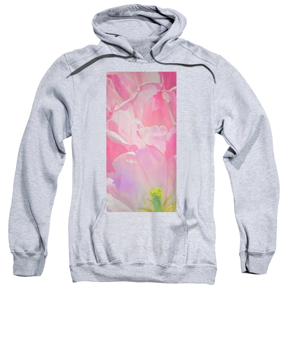 Pink Sweatshirt featuring the photograph Pastel Pink Petals by Chris Lord