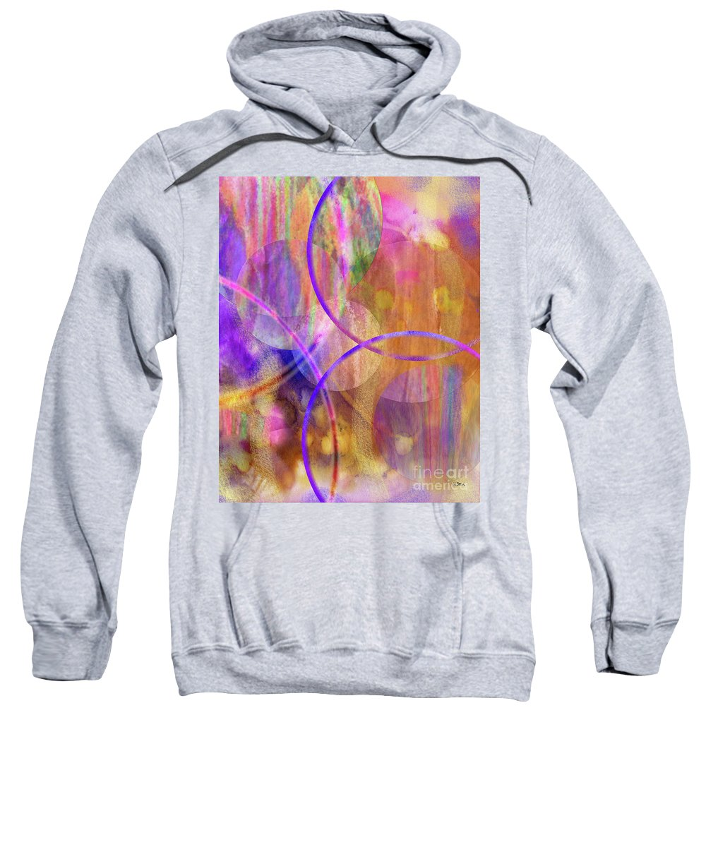 Pastel Planets Sweatshirt featuring the digital art Pastel Planets by John Beck