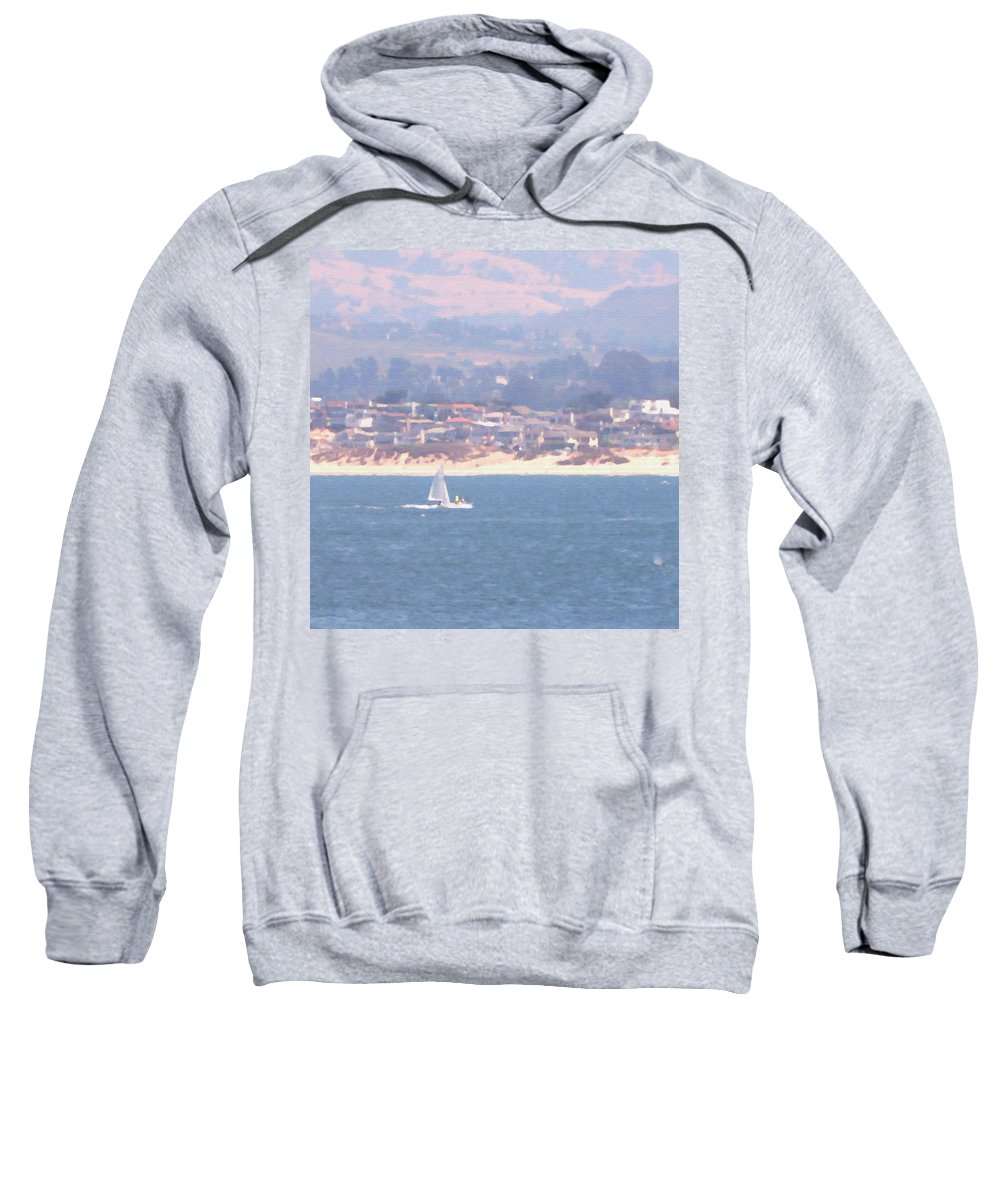 Sailing Sweatshirt featuring the photograph Pastel Sail by Pharris Art