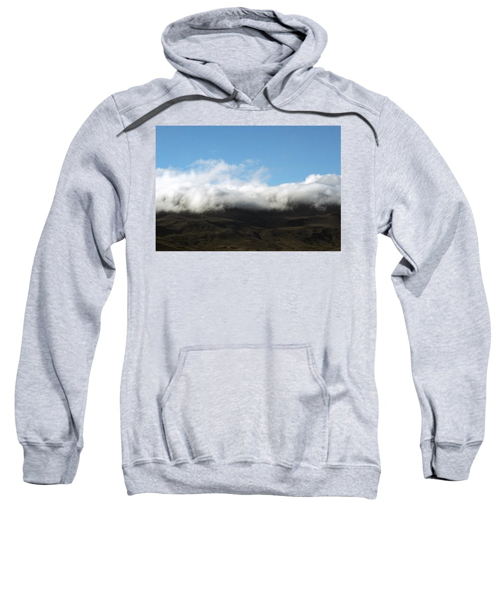 Argentina Sweatshirt featuring the photograph Patagonian Flag by Osvaldo Hamer