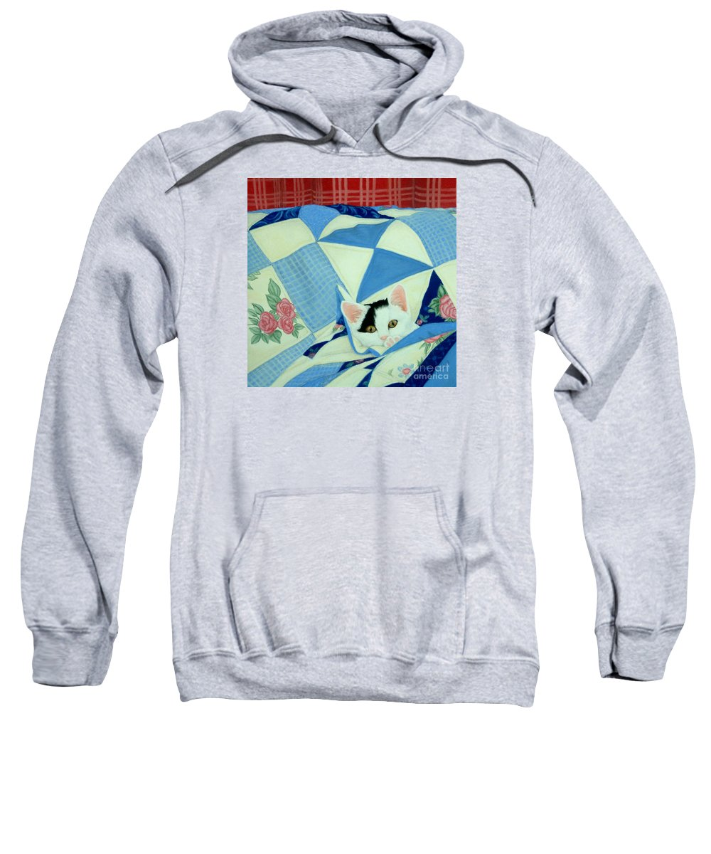 Pastel Sweatshirt featuring the drawing Patches by Vivian Bound