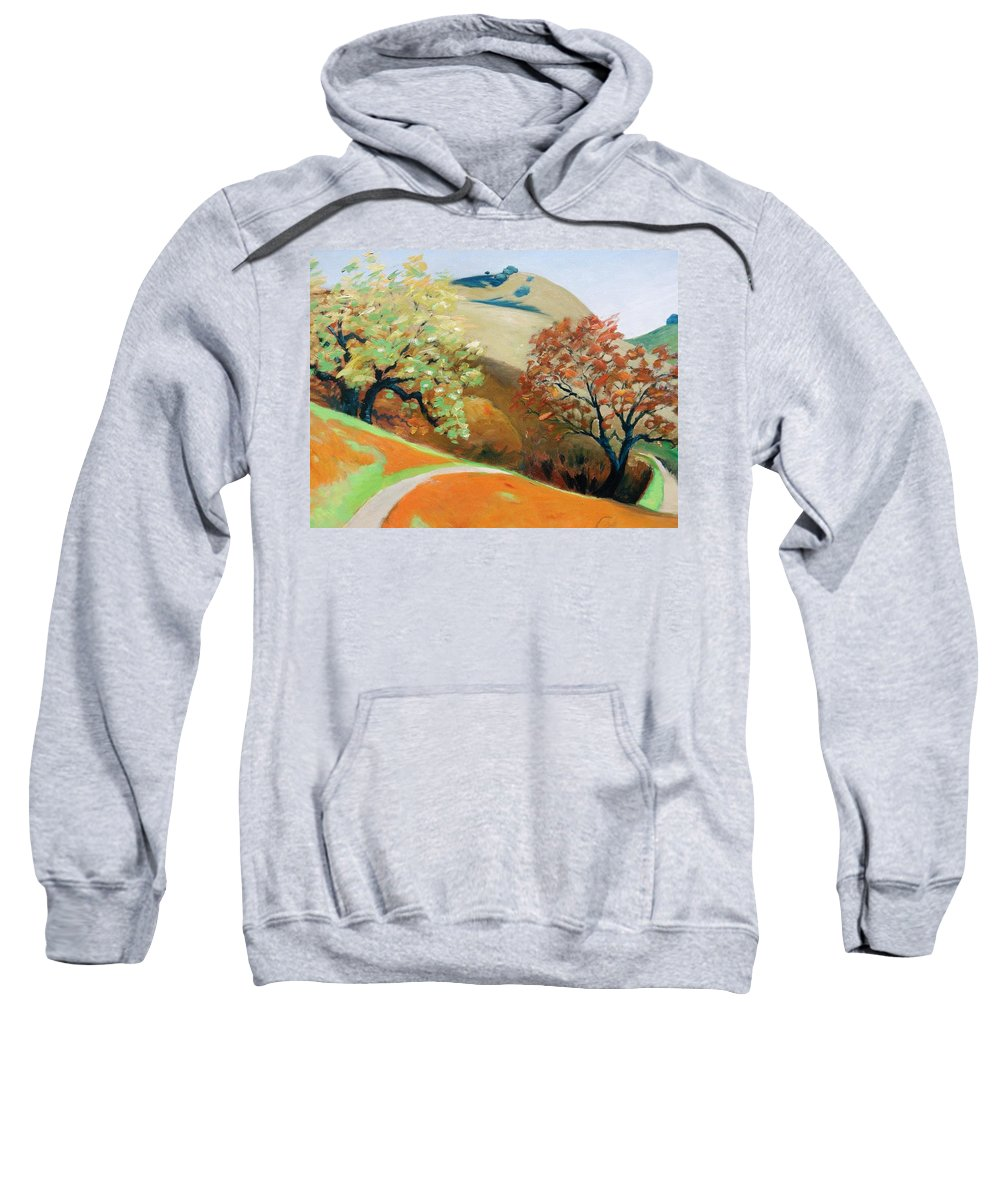 Trees Sweatshirt featuring the painting Path by Gary Coleman