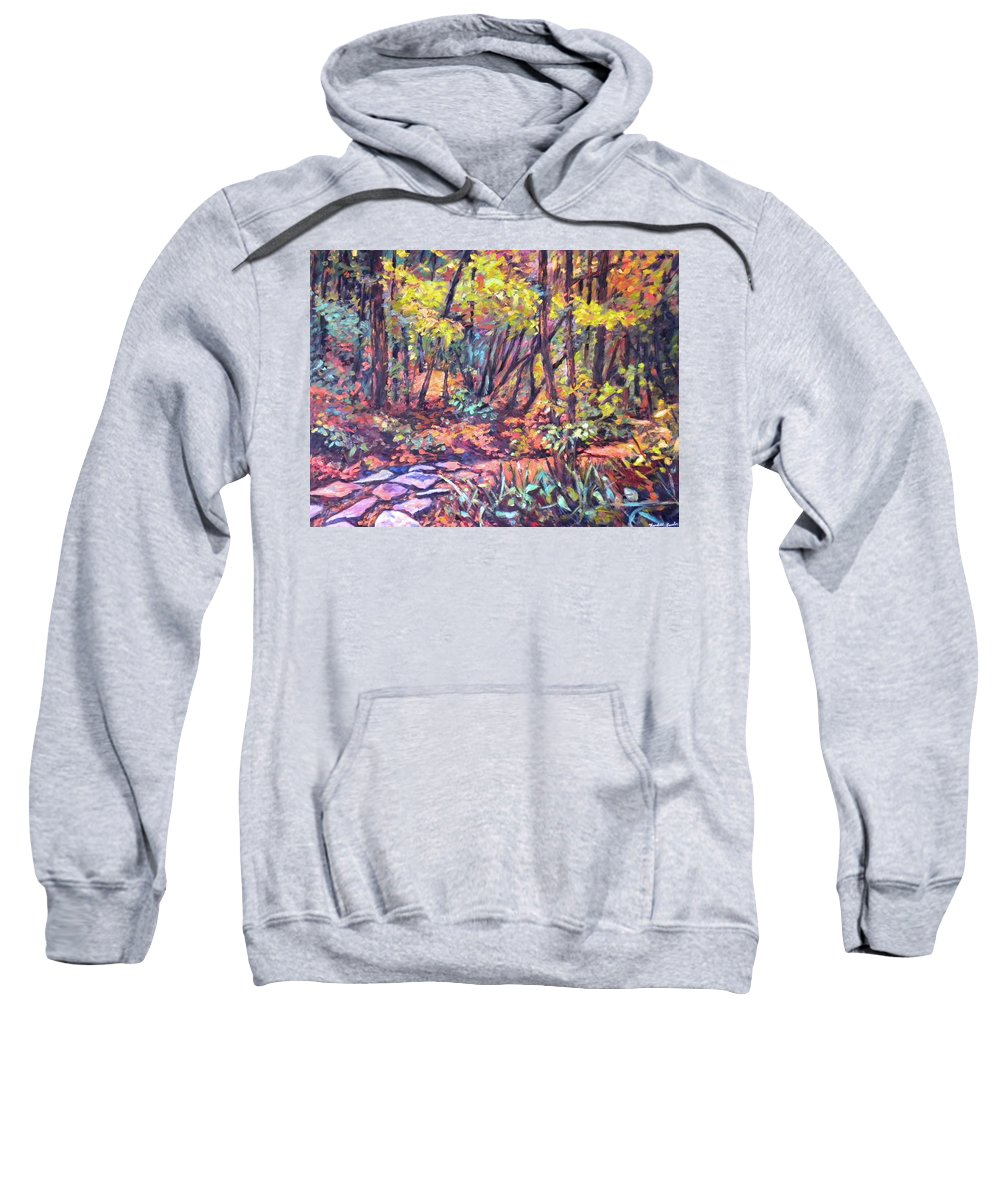 Landscape Sweatshirt featuring the painting Path Near Pandapas by Kendall Kessler
