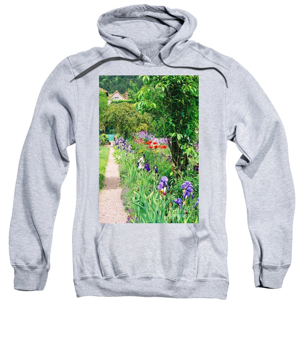 Claude Monet Sweatshirt featuring the photograph Path To Monet's House by Nadine Rippelmeyer