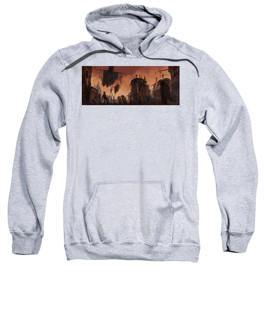 Pathologic Sweatshirt featuring the digital art Pathologic by Bert Mailer