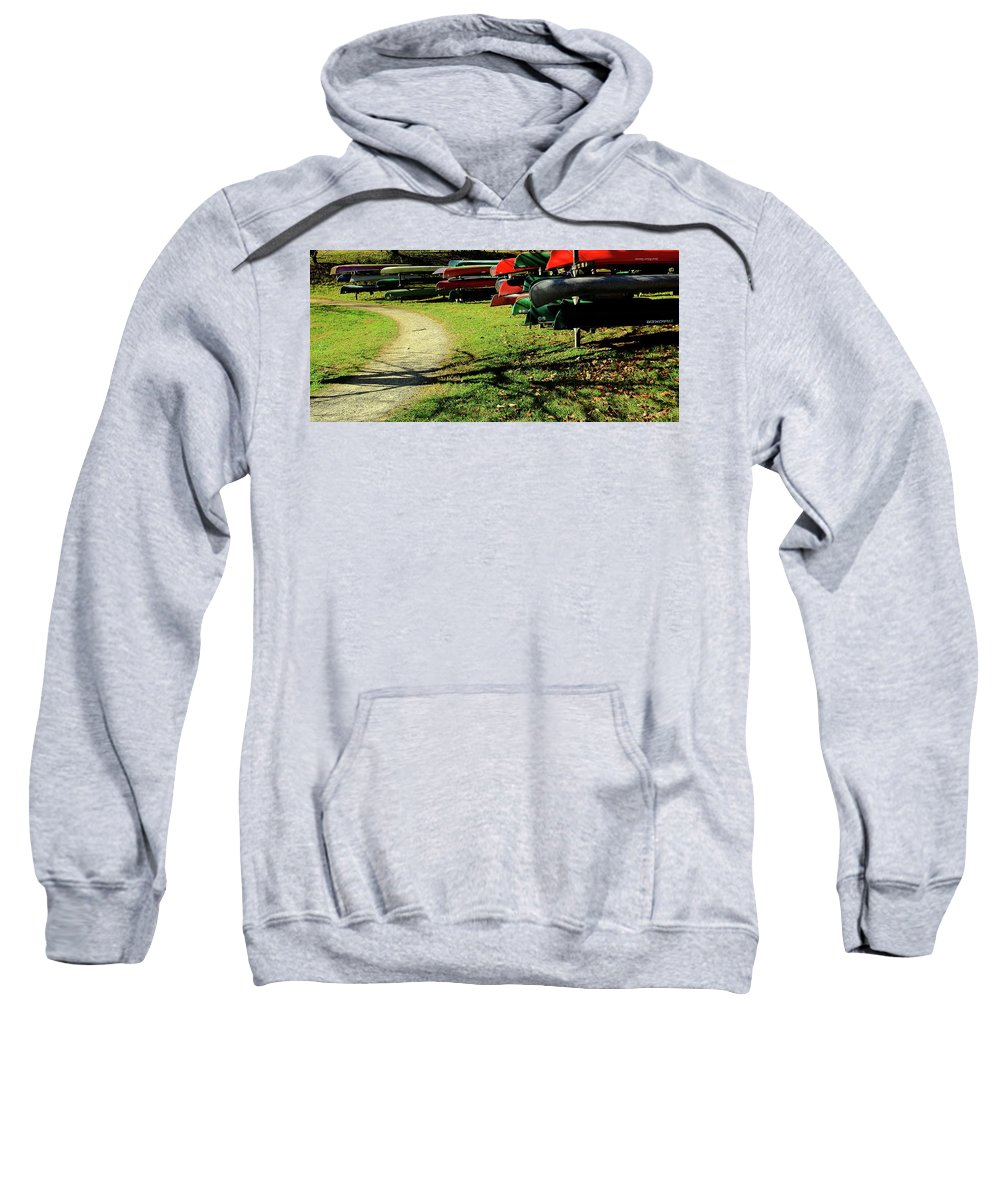Path Sweatshirt featuring the photograph Pathways Await Us All by Allen Nice-Webb