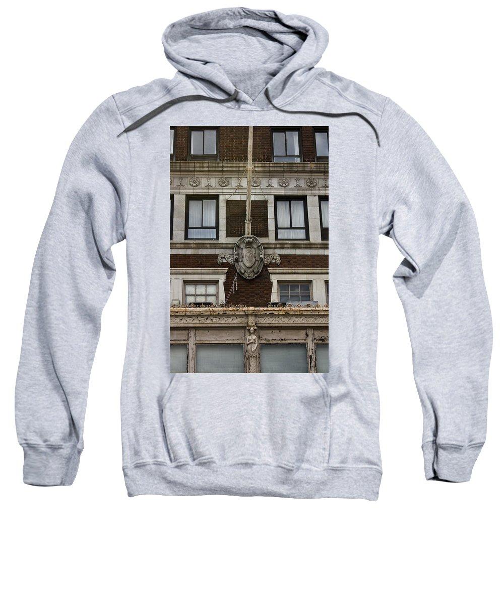 Roanoke Sweatshirt featuring the photograph Patrick Henry Hotel Roanoke Virginia by Teresa Mucha