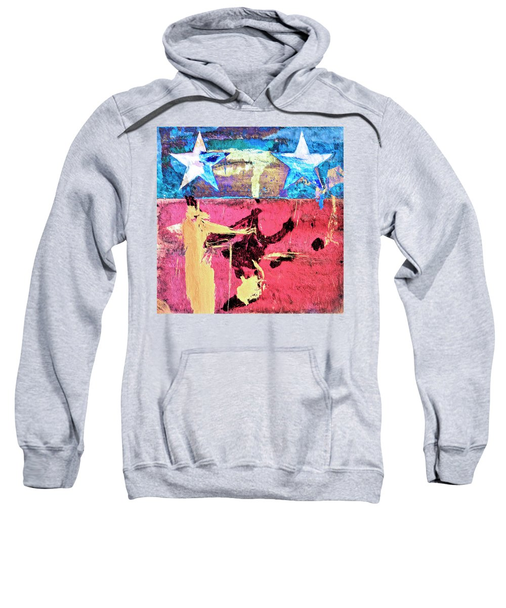 Abstract Sweatshirt featuring the painting Patriot Act by Dominic Piperata