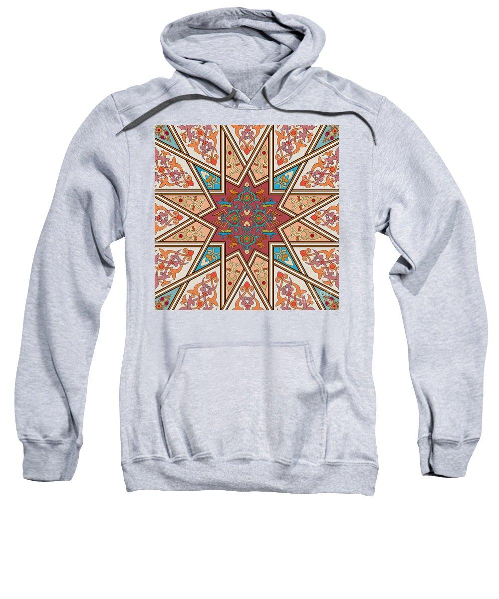 Islamic Art Sweatshirt featuring the painting Pattern Art 005 by Gull G