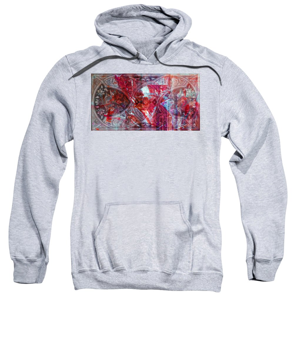 Pattern Sweatshirt featuring the painting Pattern Art 015 by Gull G