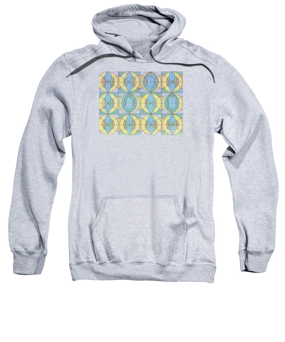 Canvas Prints Sweatshirt featuring the digital art Pattern Of Serenity by Norma Appleton