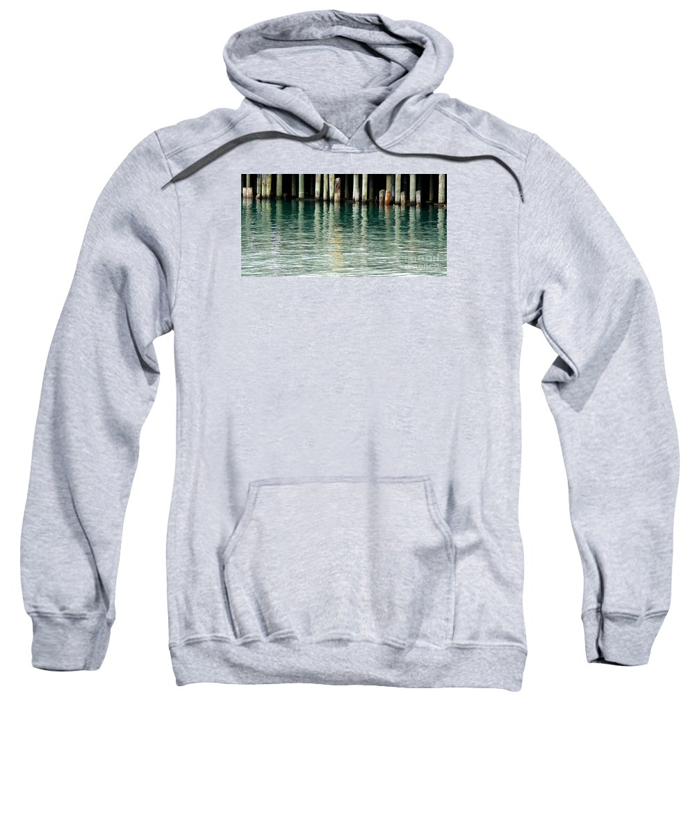Dock Sweatshirt featuring the photograph Patterns Of Abstraction by Linda Shafer