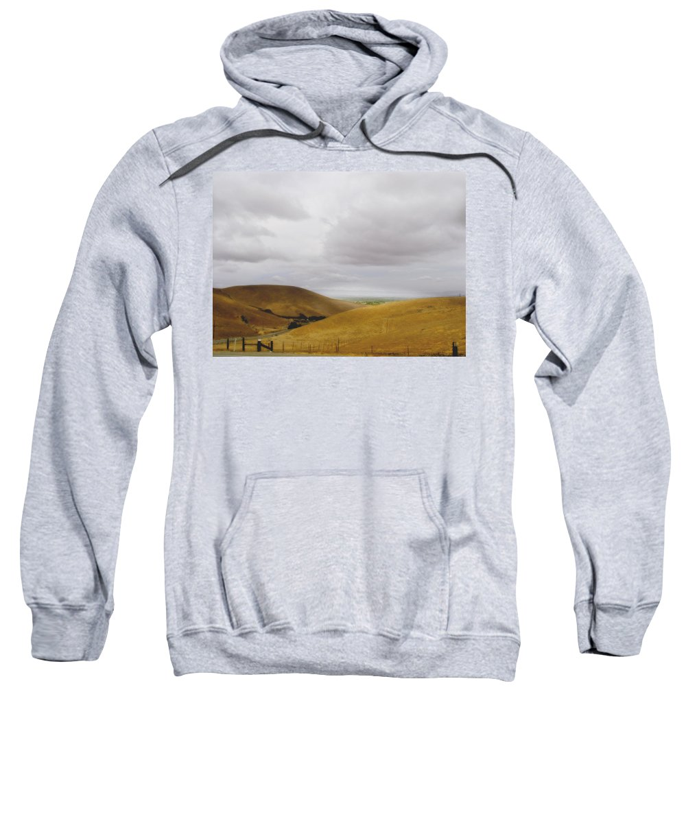 Landscape Sweatshirt featuring the photograph Patterson Pass Road by Karen W Meyer