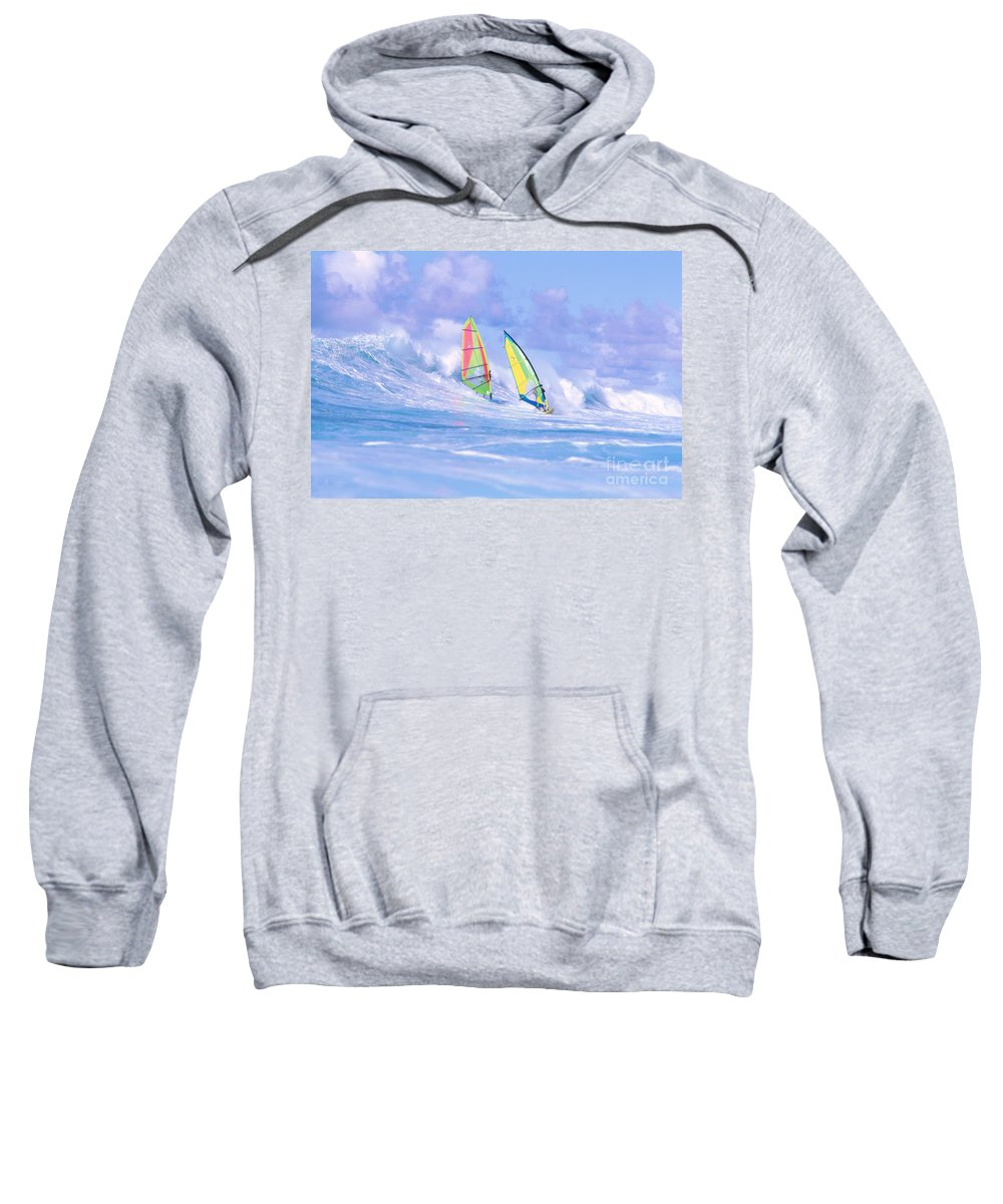 Adrenaline Sweatshirt featuring the photograph Paul And Gary by Erik Aeder - Printscapes