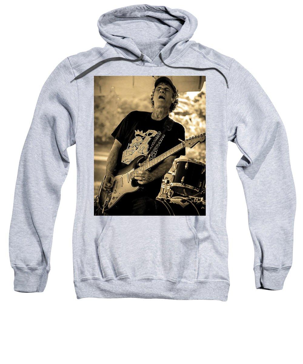 Sweatshirt featuring the photograph Paul Warren Rockin' by Toby Horton