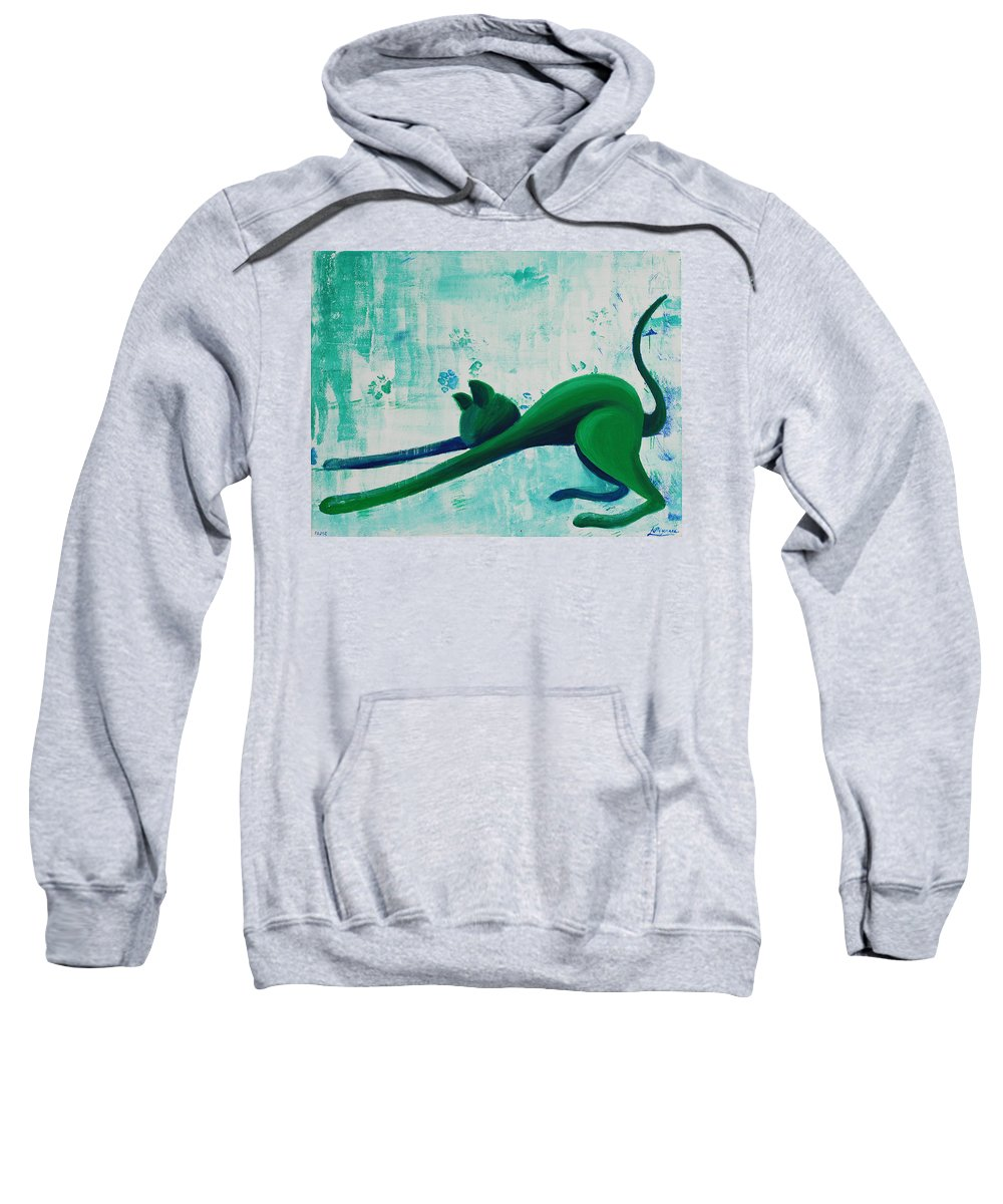 Pause Sweatshirt featuring the painting Pause by Catt Kyriacou
