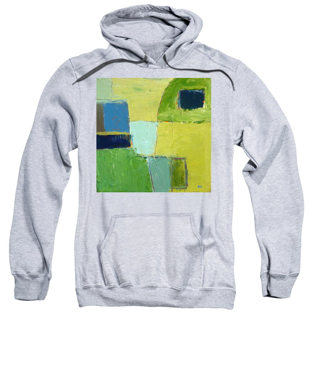 Abstract Sweatshirt featuring the painting Peace 1 by Habib Ayat