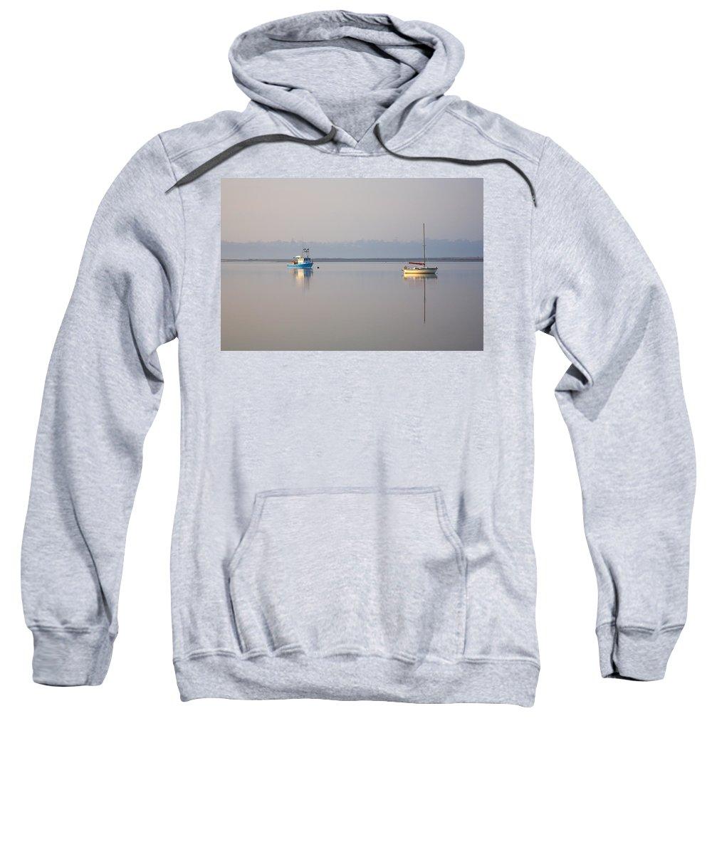 Tasmania Sweatshirt featuring the photograph Peace At Anchor by Mike Dawson