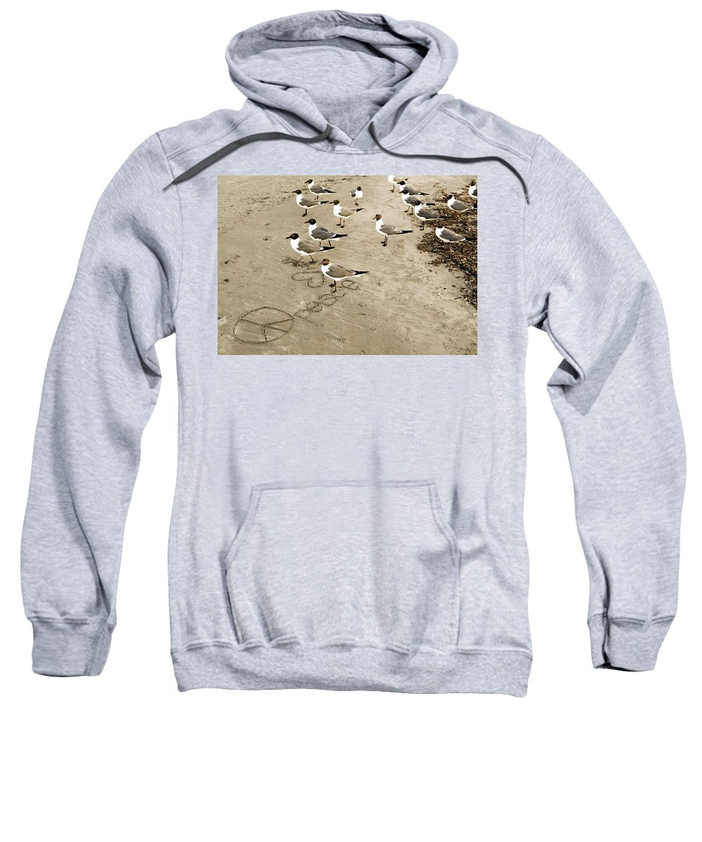 Americana Sweatshirt featuring the photograph Peace On The Beach by Marilyn Hunt
