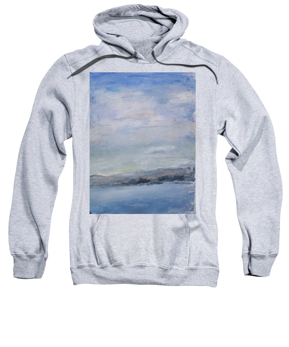 Sky Sweatshirt featuring the painting Peace by Patricia Caldwell