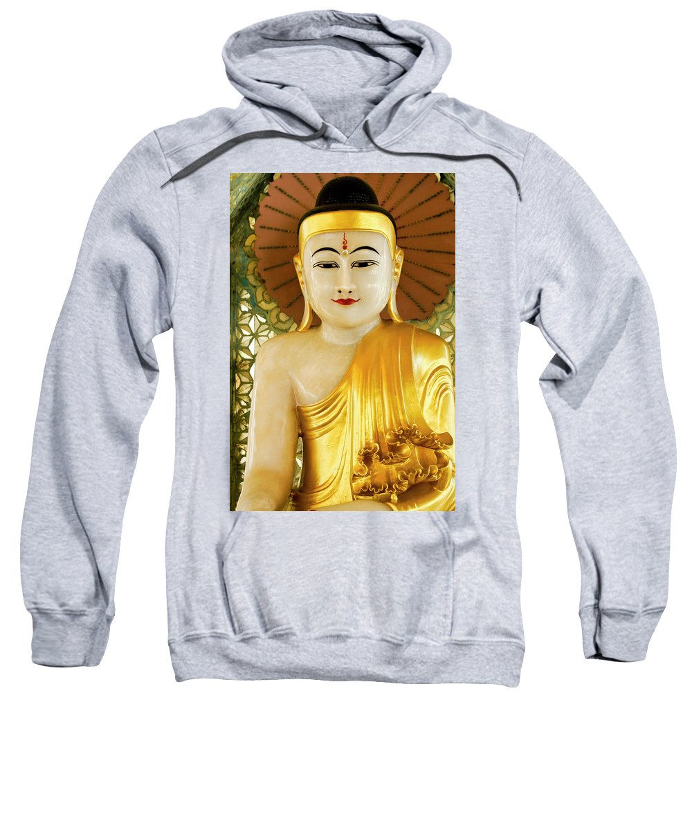 Asia Sweatshirt featuring the photograph Peaceful Buddha by Michele Burgess