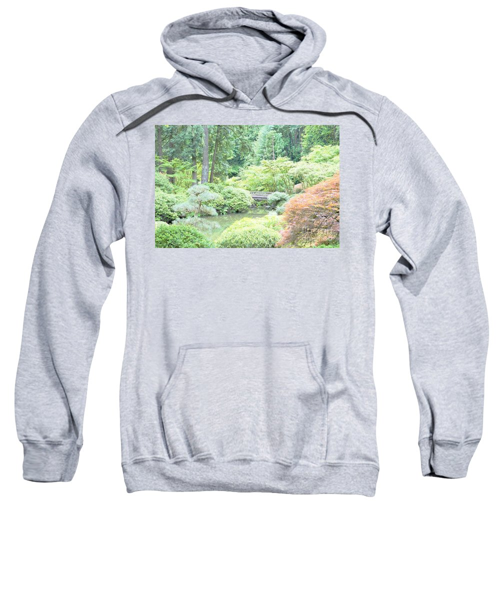 Gardens Sweatshirt featuring the photograph Peaceful Garden Space by Merle Grenz