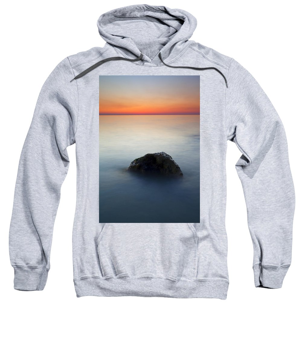 Rock Sweatshirt featuring the photograph Peaceful Isolation by Mike Dawson