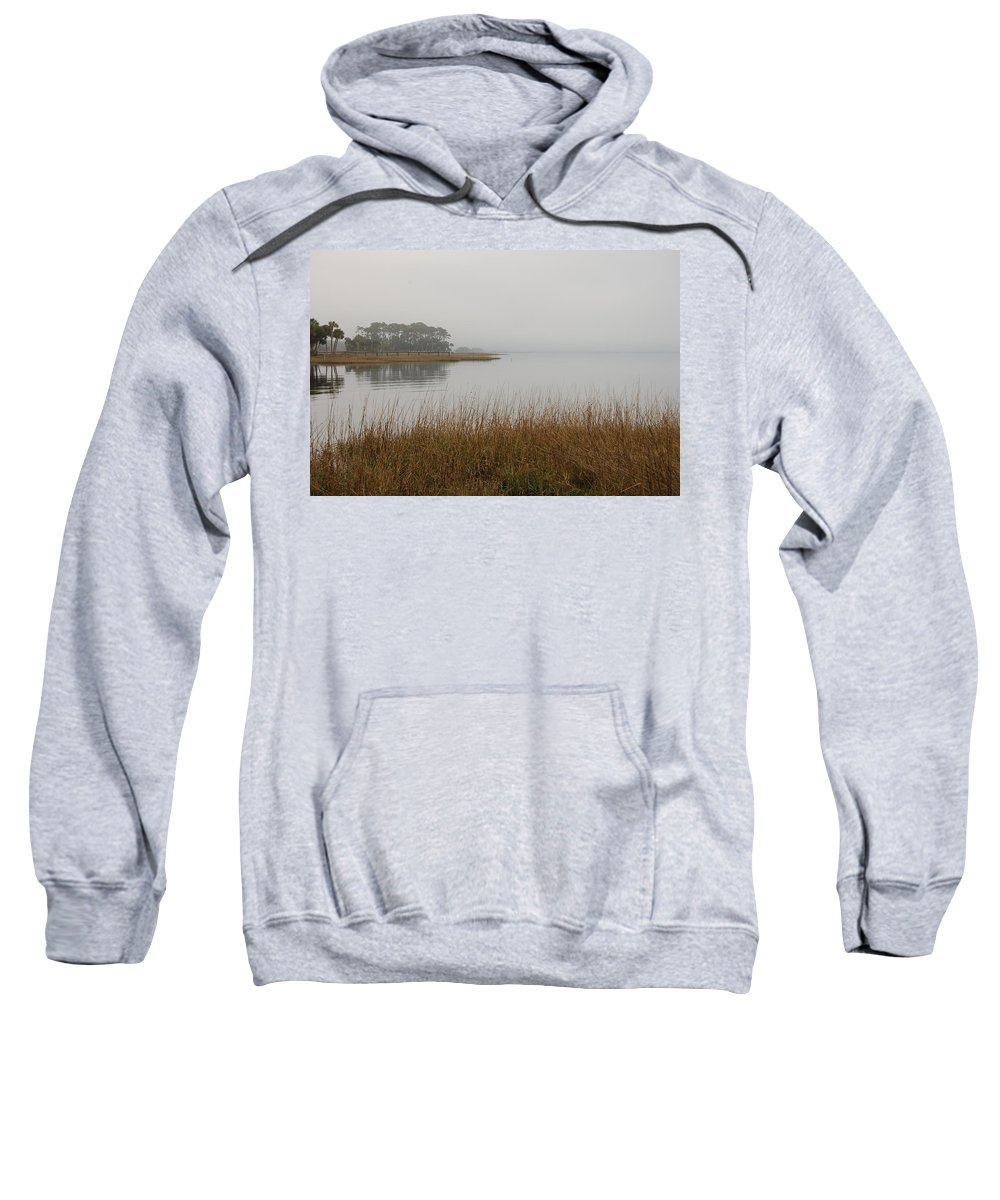 St. Joe Bay Sweatshirt featuring the photograph Peaceful by Lucy Bounds