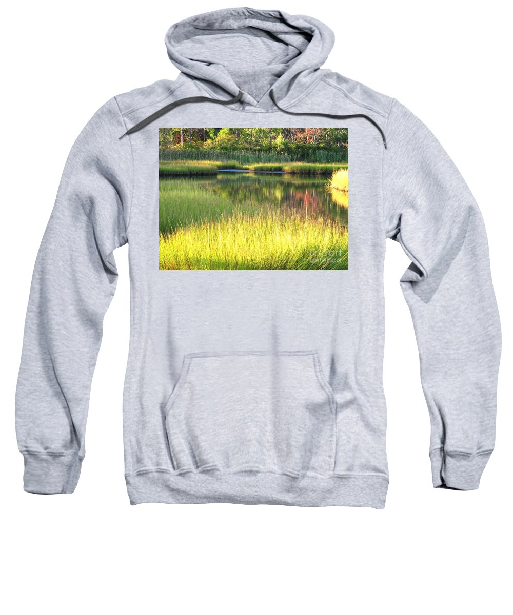 Water Sweatshirt featuring the photograph Peaceful Marsh by Sybil Staples