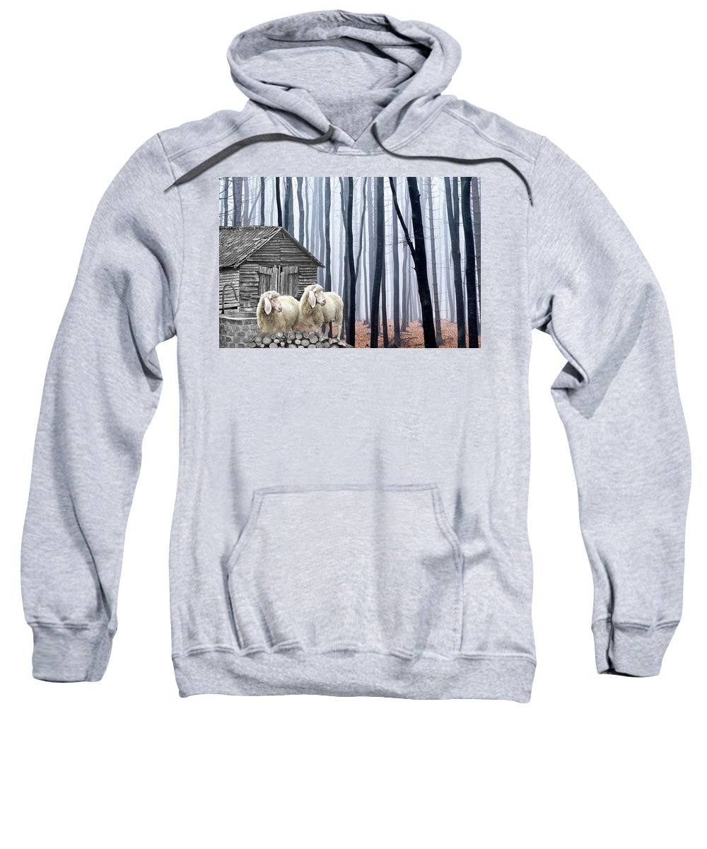 Sheep Sweatshirt featuring the photograph Peacefully by Manfred Lutzius