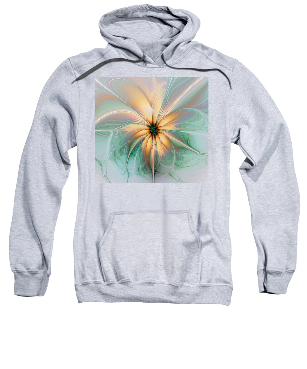 Digital Art Sweatshirt featuring the digital art Peach Allure by Amanda Moore