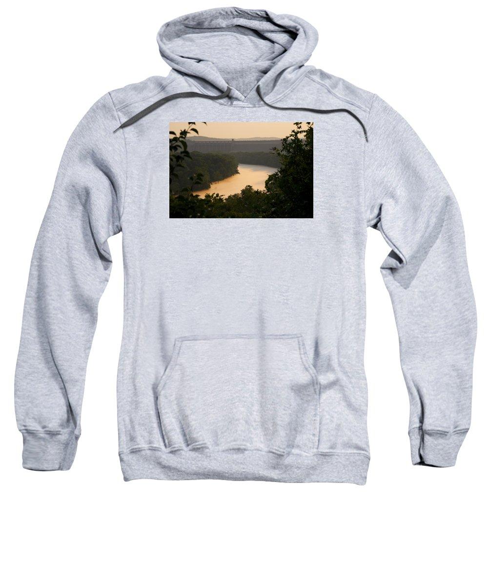 Fog Sweatshirt featuring the photograph Peach fog by Toni Berry