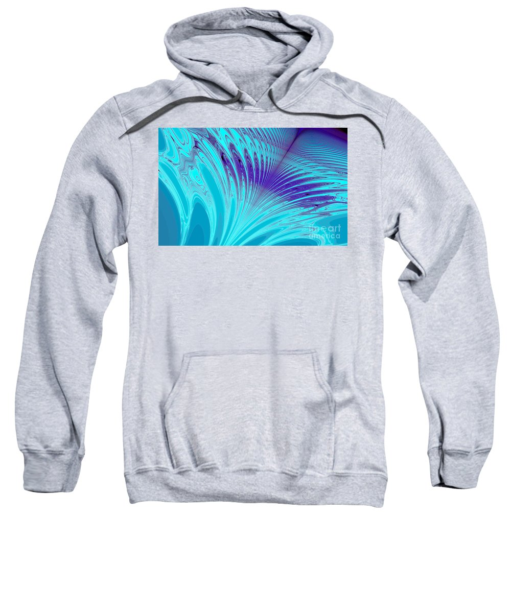 Clay Sweatshirt featuring the digital art Peacock by Clayton Bruster