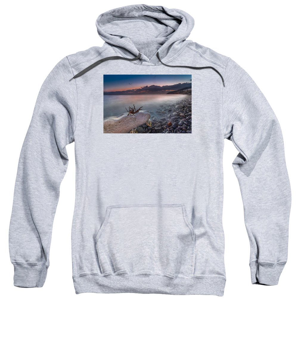 Sky Sweatshirt featuring the photograph Pebble Beach by Mike Drosos