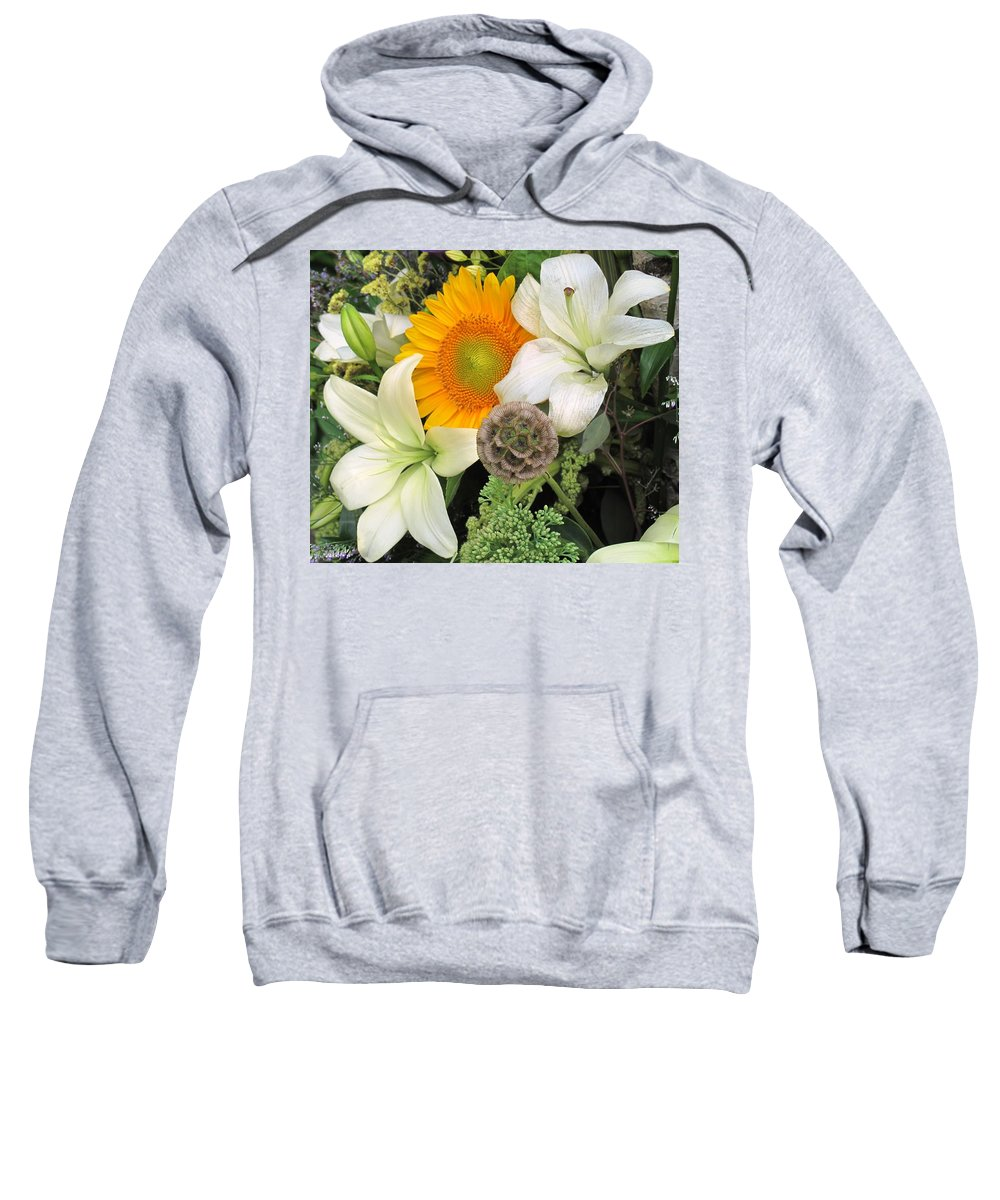 Lillies Sweatshirt featuring the photograph Peeking Out by Ian MacDonald