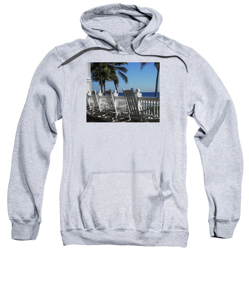 Rocking Chairs Sweatshirt featuring the photograph Pelican Grand by Neil Zimmerman