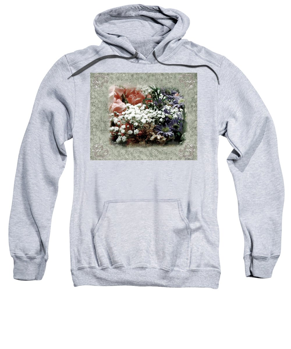 Flowers Sweatshirt featuring the painting Penny Postcard Romantica by RC DeWinter