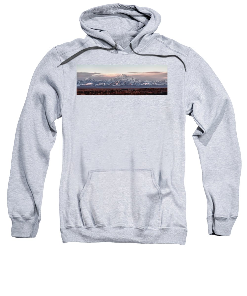 Talkeetna Sweatshirt featuring the photograph Pensive by Ed Boudreau