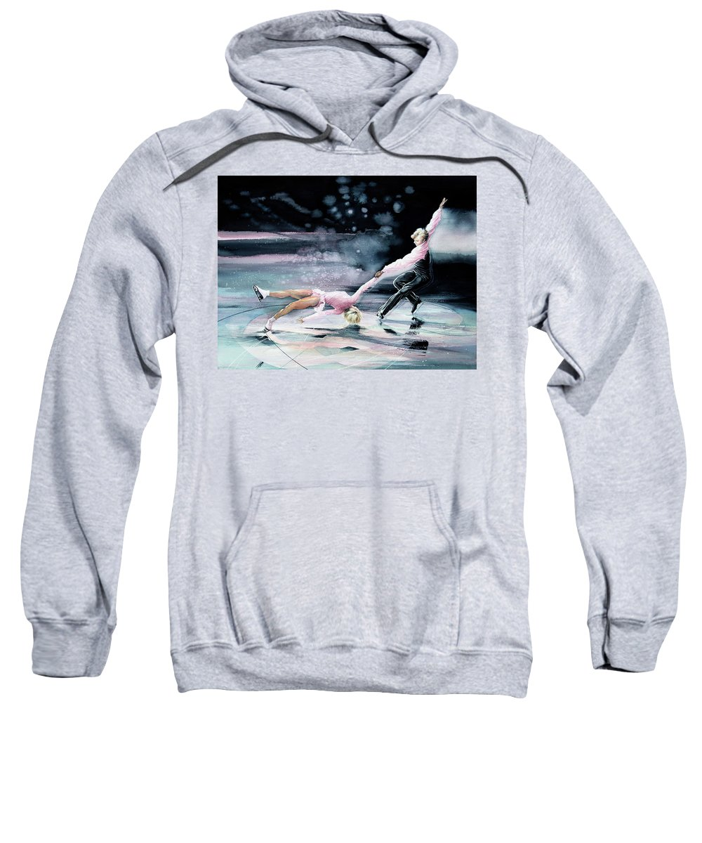 Sports Art Sweatshirt featuring the painting Perfect Harmony by Hanne Lore Koehler