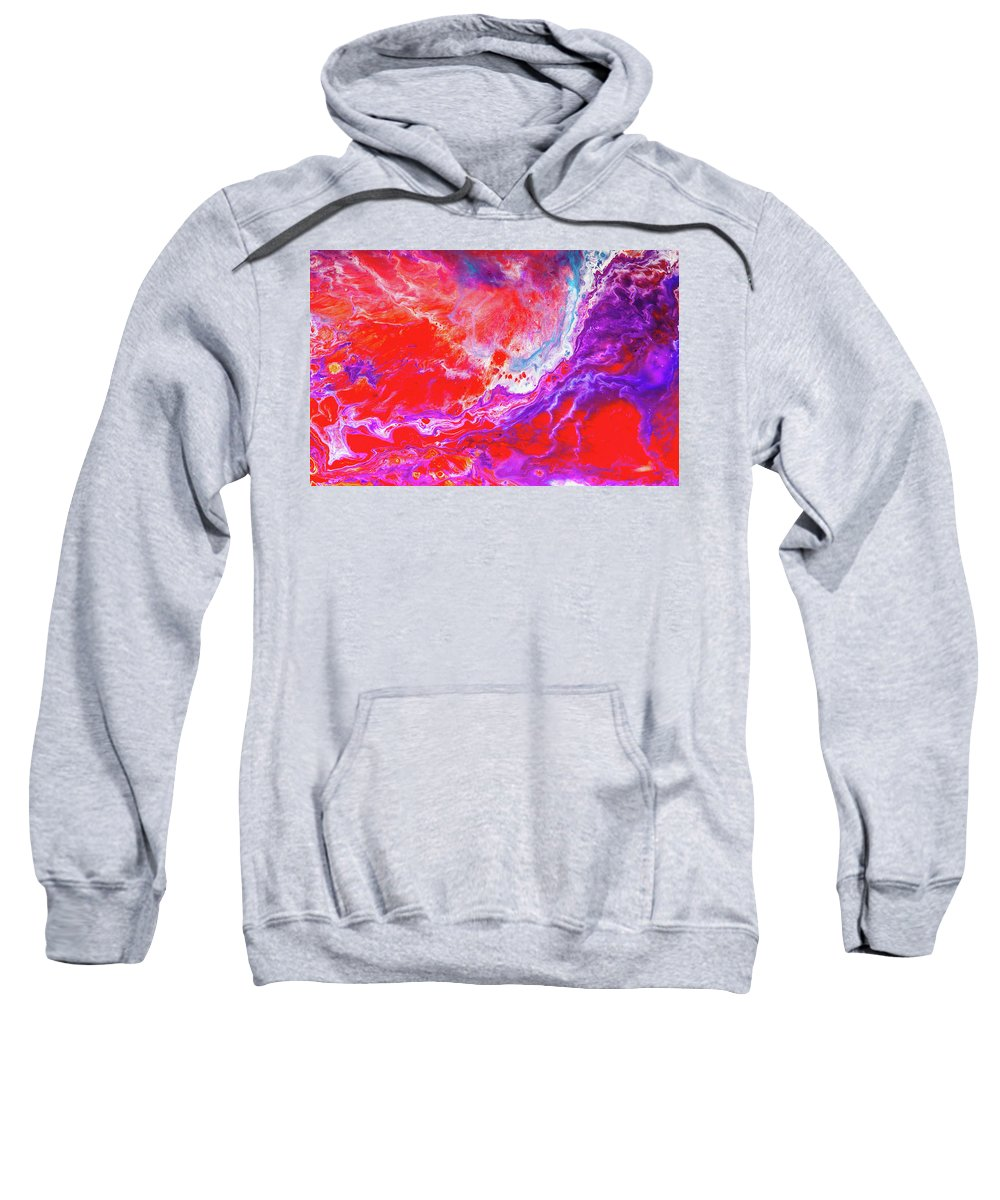 Love Painting Sweatshirt featuring the painting Perfect Love Storm - Colorful Abstract Painting by Modern Abstract