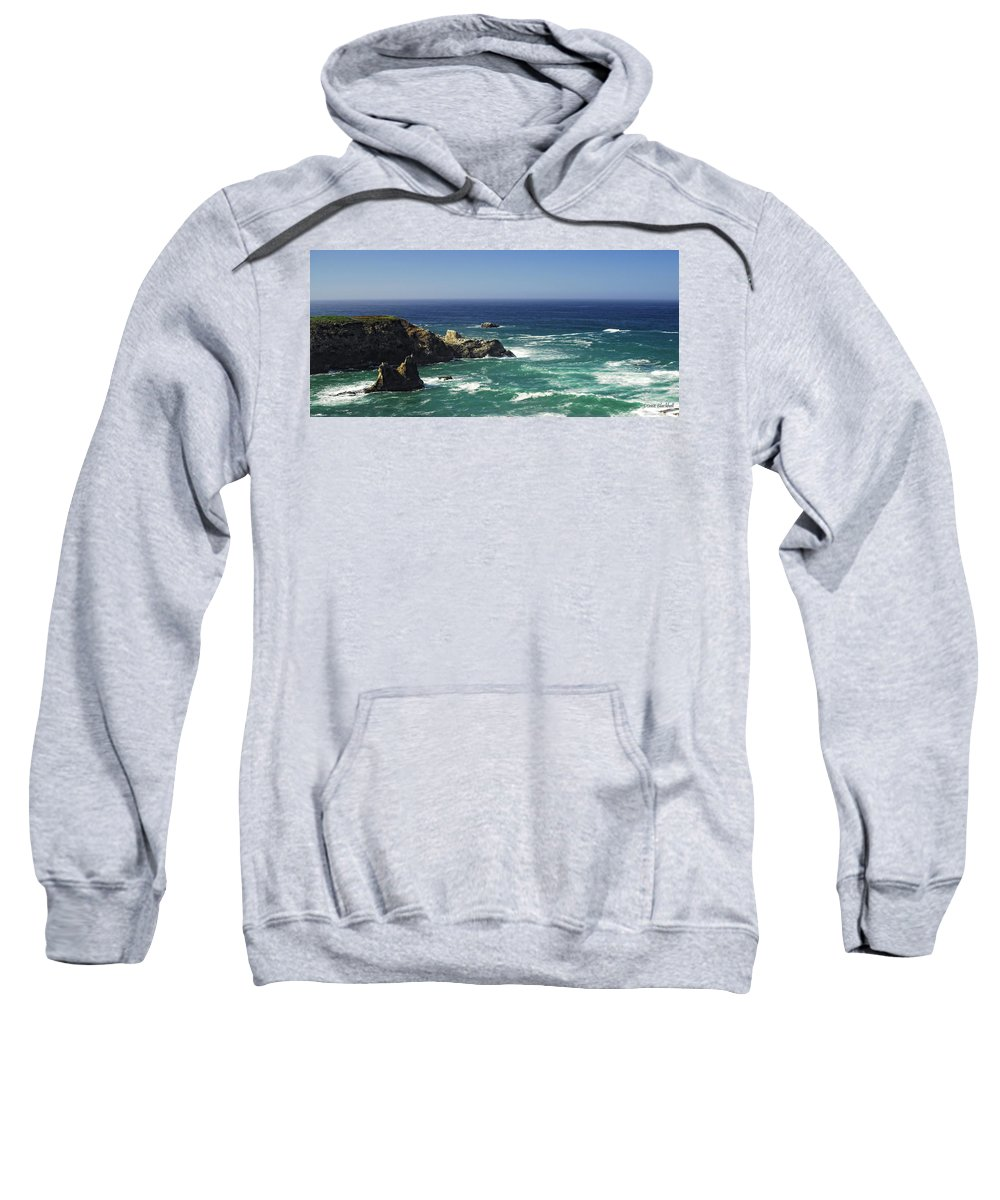 Ocean Sweatshirt featuring the photograph Perfect Mix Of Blue And Green by Donna Blackhall