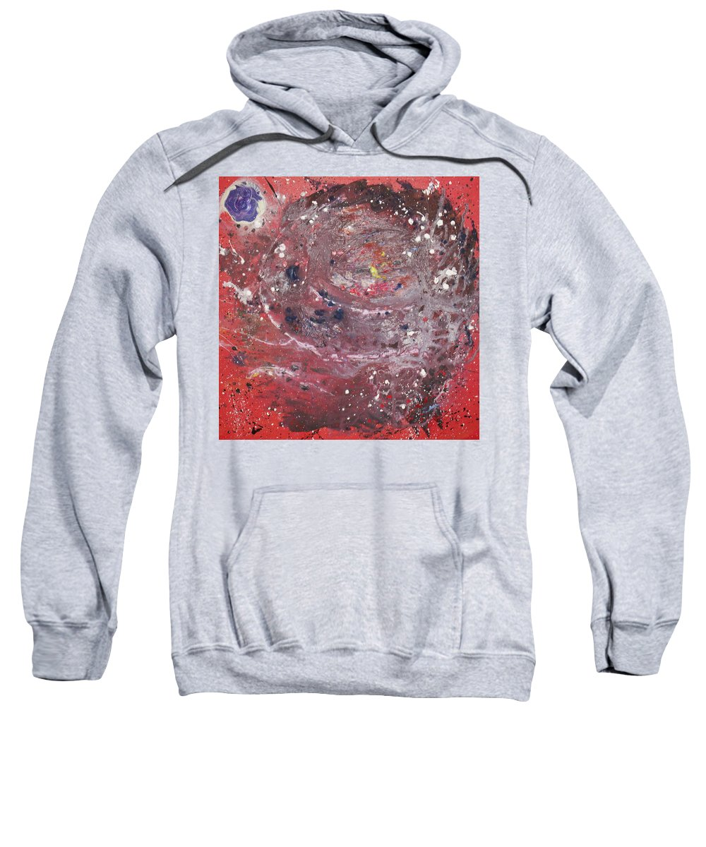 Universe Sweatshirt featuring the painting Perfect Storm by Michael Lucarelli