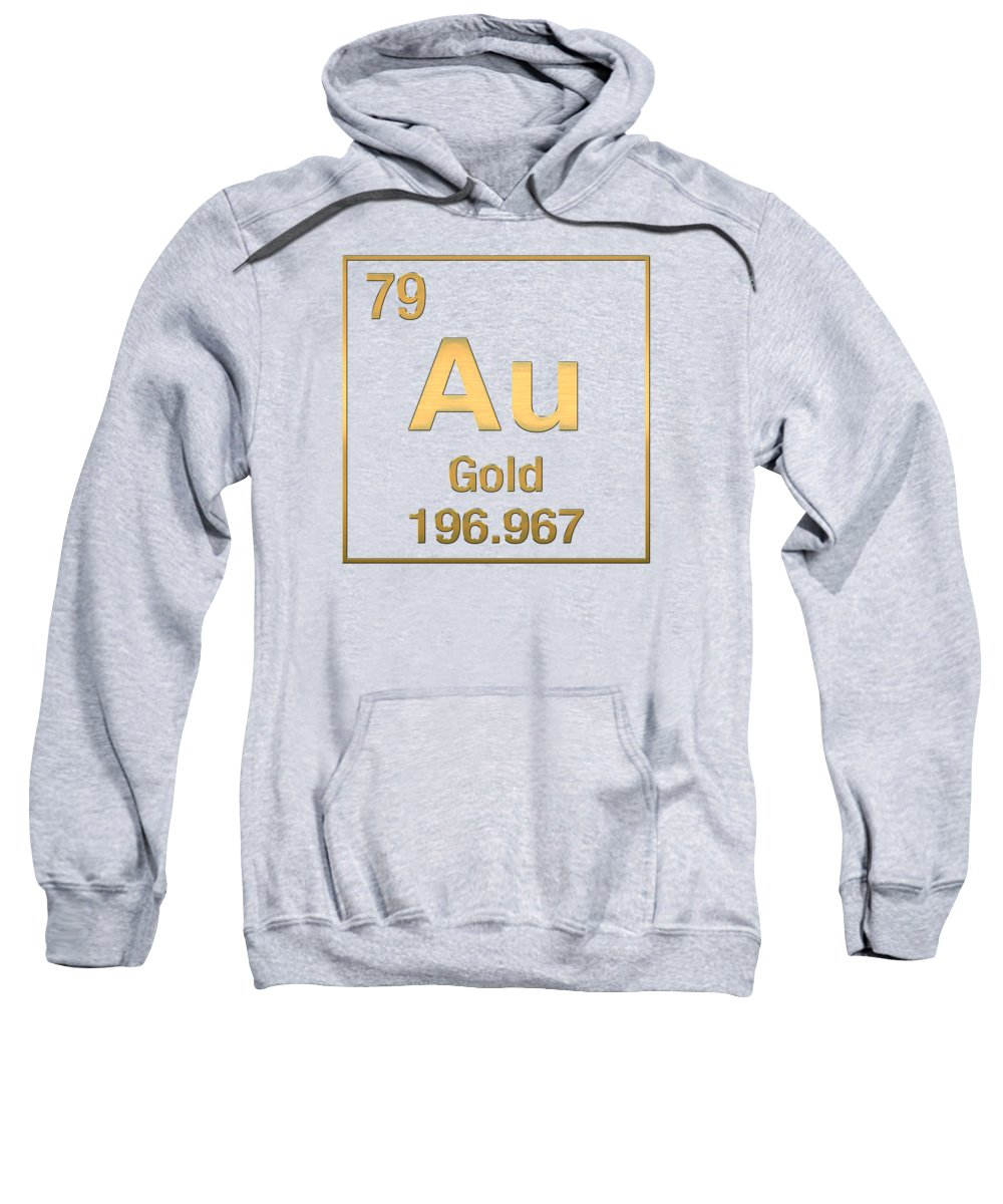 Periodic table of elements gold au gold on gold adult pull the elements collection by serge averbukh sweatshirt featuring the digital art periodic table of urtaz Gallery