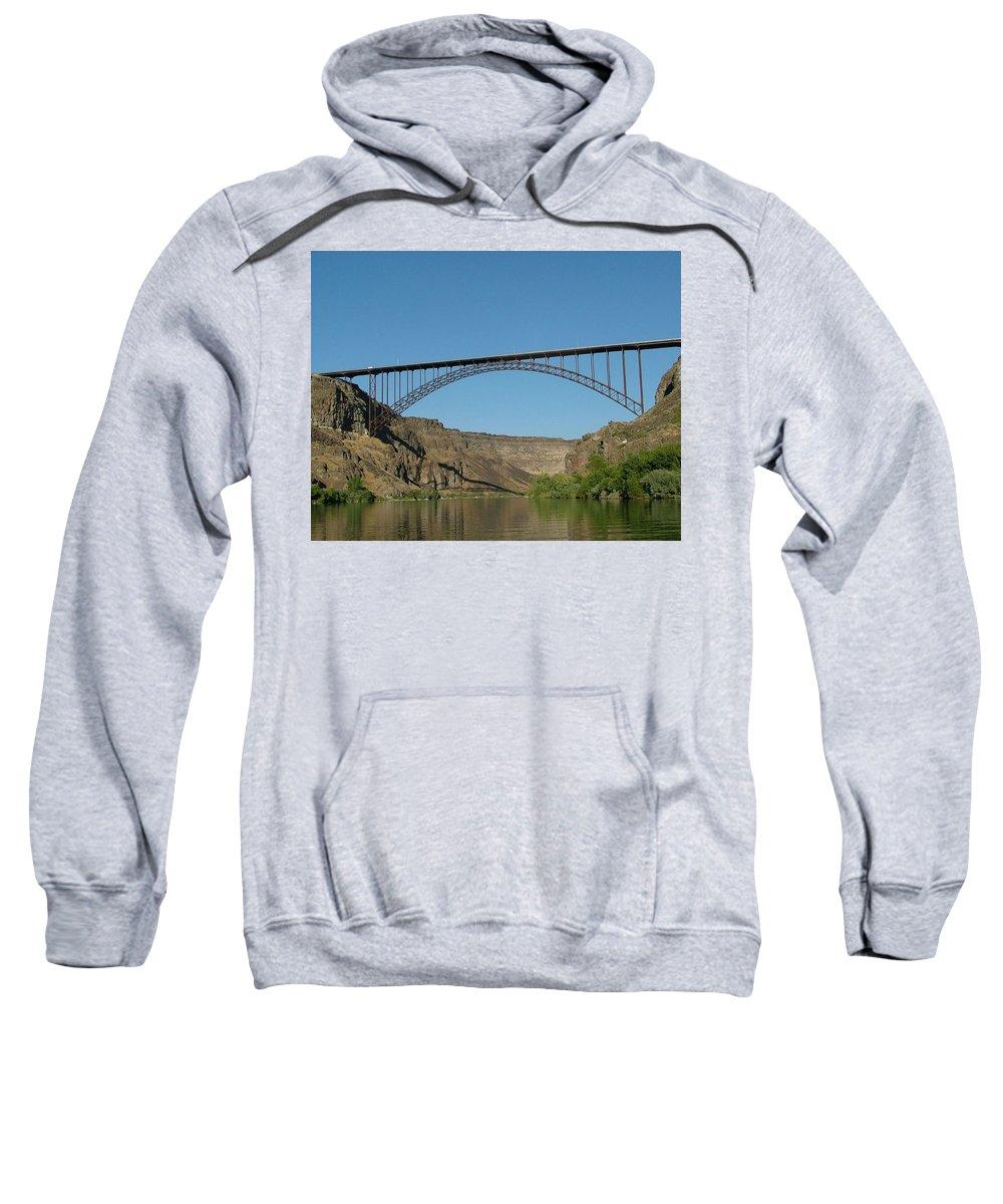 Dawn Blair Sweatshirt featuring the painting Perrine Bridge by Dawn Blair