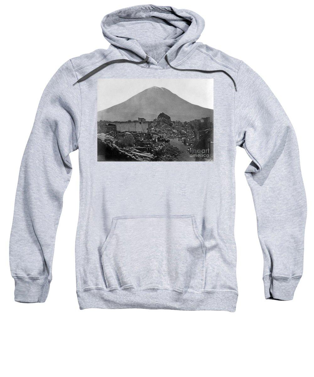 1868 Sweatshirt featuring the photograph Peru: Earthquake by Granger