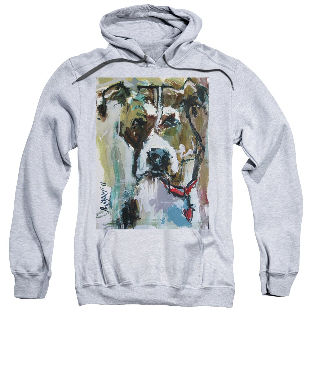 Contemporary Pet Painting Sweatshirt featuring the painting Pet Commission Painting by Robert Joyner
