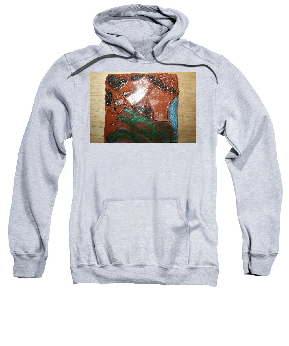 Jesus Sweatshirt featuring the ceramic art Petals - Tile by Gloria Ssali