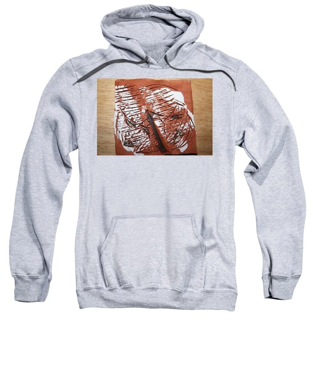Jesus Sweatshirt featuring the ceramic art Peter N Katie - Tile by Gloria Ssali